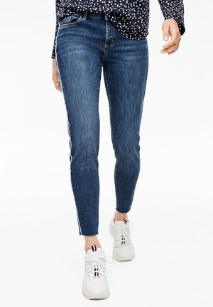 MIT PIPING - Slim fit jeans - dark steel blue