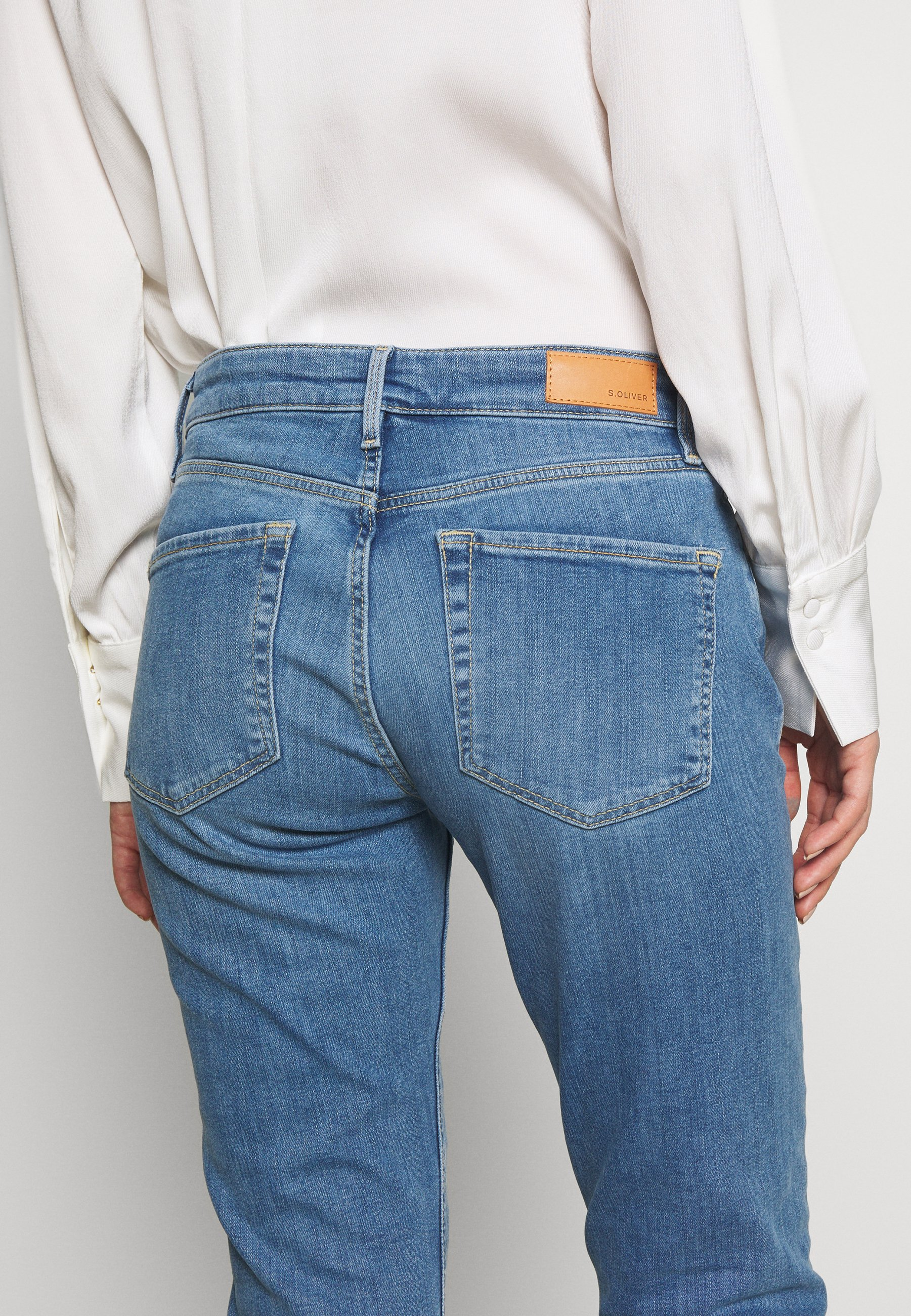 s.Oliver HOSE LANG - Jeansy Straight Leg - blue denim