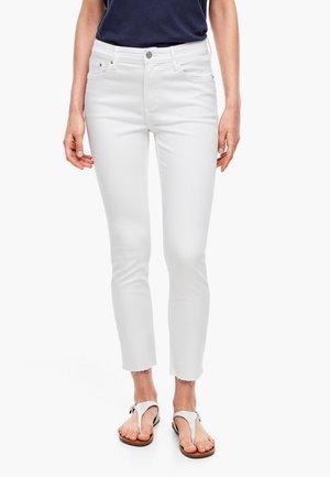ANKLE LEG - Slim fit jeans - white