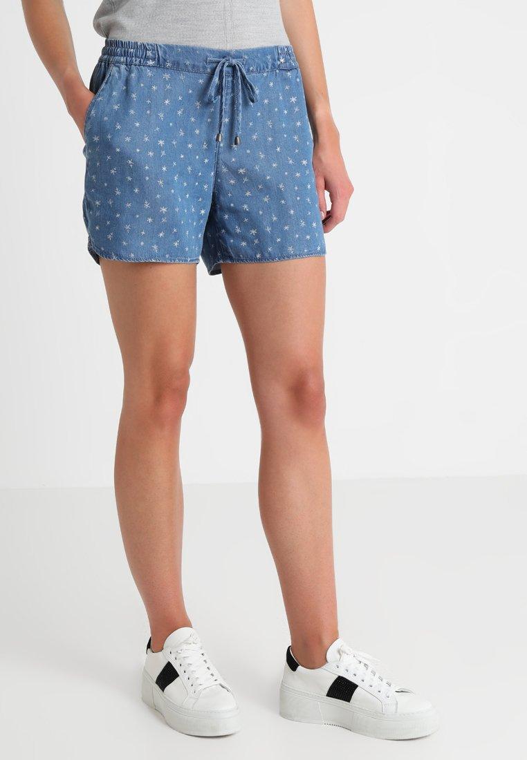 s.Oliver - SMART - Denim shorts - blue denim