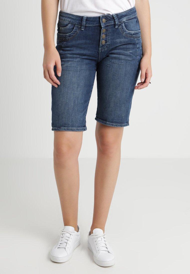 s.Oliver - SMART BERMUDA - Jeans Shorts - dark steel blue denim