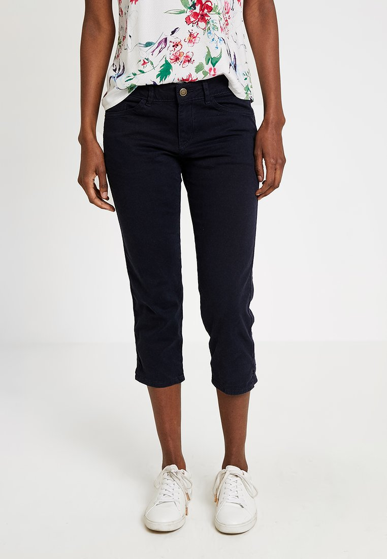 s.Oliver - SHAPE CAPRI - Shorts di jeans - navy