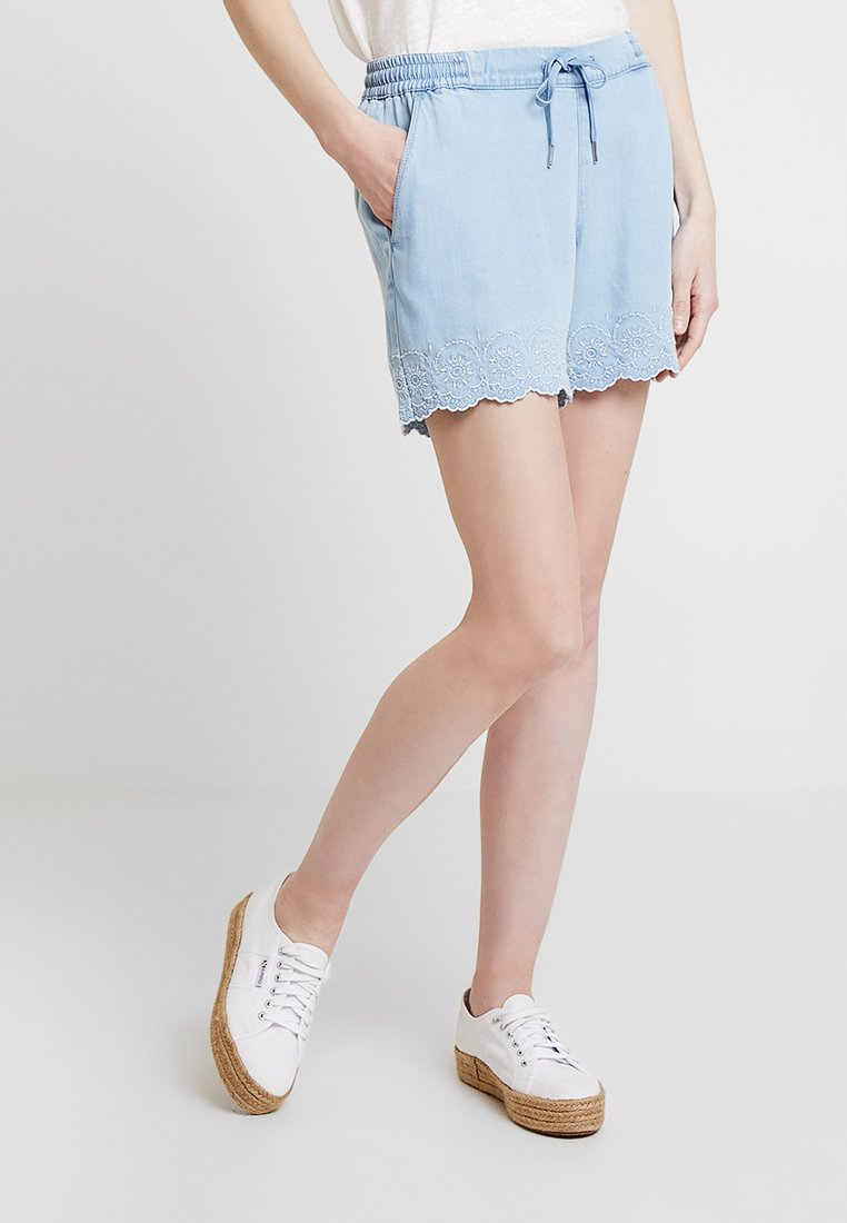 s.Oliver - SMART - Shorts - greyblue denim