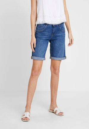 SMART BERMUDA - Shorts - blue denim