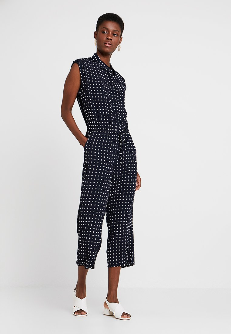 s.Oliver - OVERALL - Jumpsuit - navy tropical