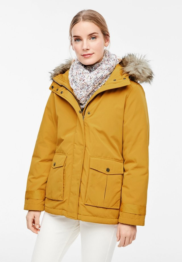 MIT FAKE FUR-DETAIL - Jas - dark yellow