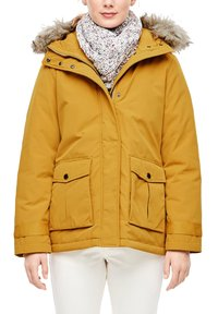 s.Oliver - MIT FAKE FUR-DETAIL - Light jacket - dark yellow - 3
