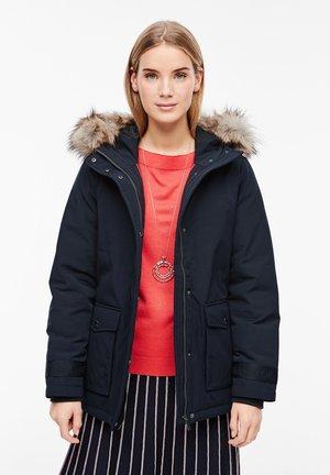 MIT FAKE FUR-DETAIL - Light jacket - navy