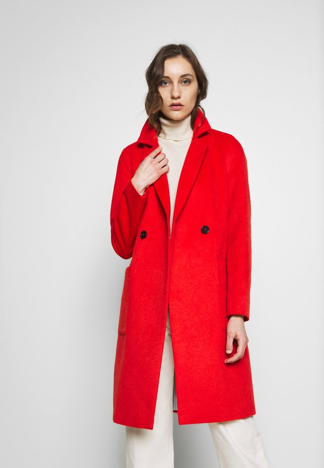 LANGARM - Płaszcz wełniany /Płaszcz klasyczny - red