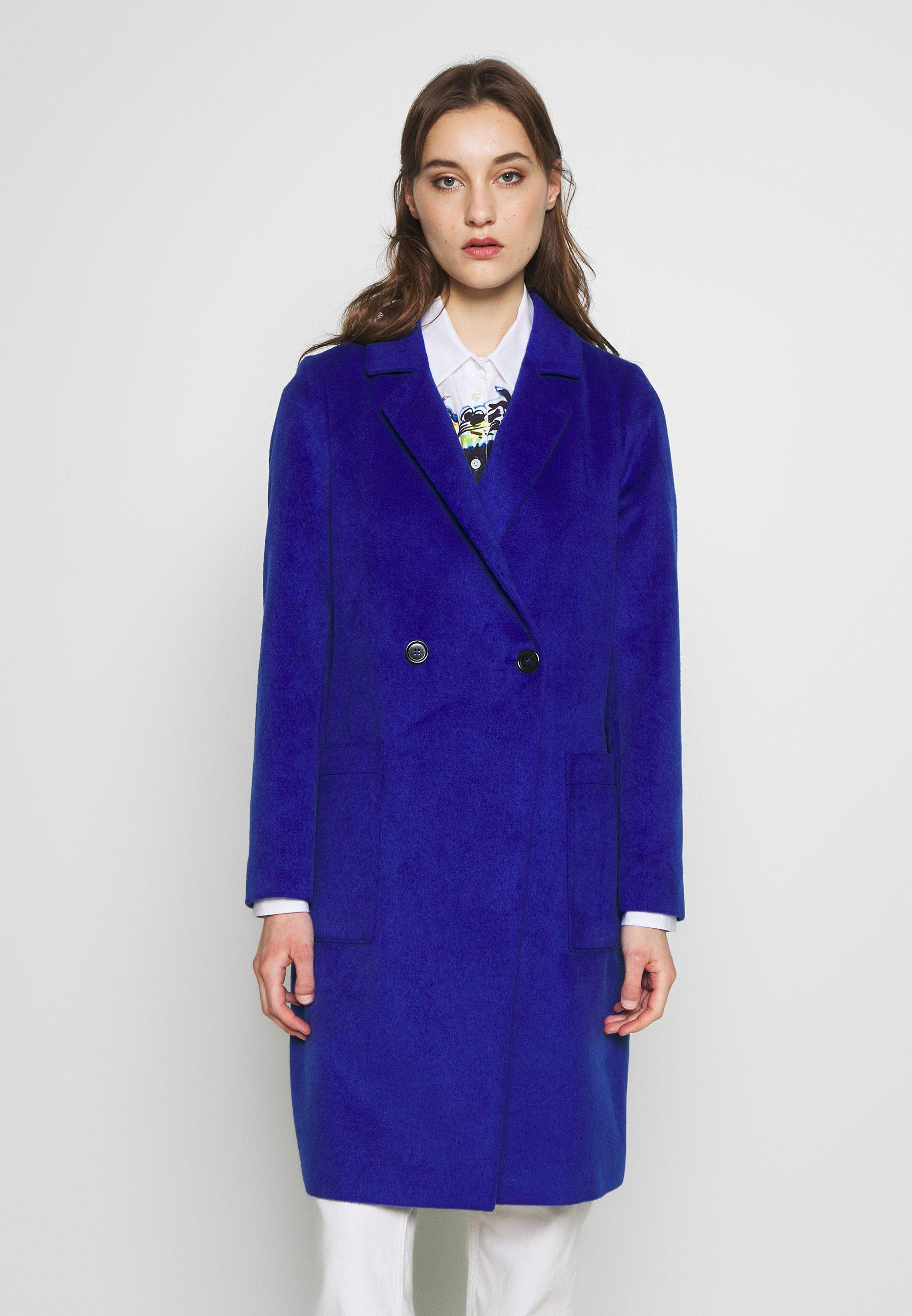 s.Oliver LANGARM - Płaszcz wełniany /Płaszcz klasyczny - glory blue