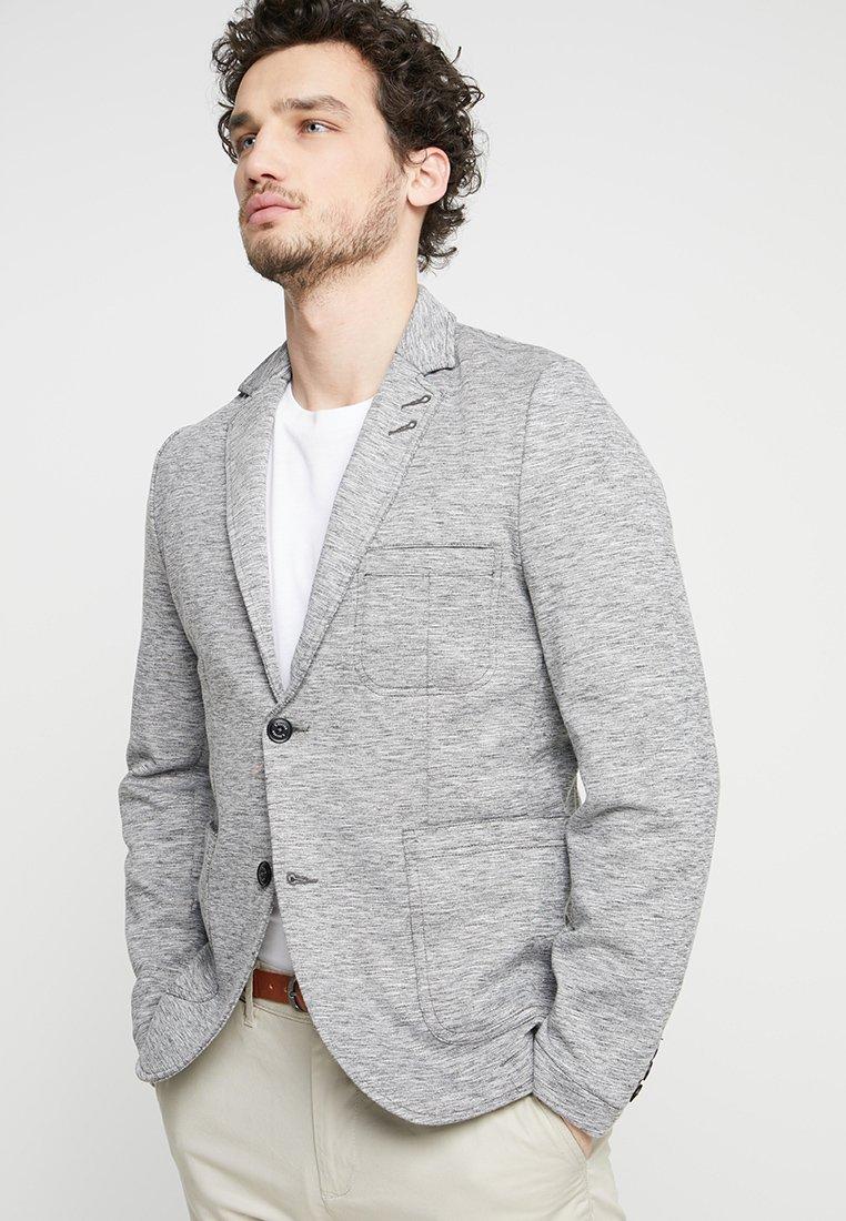 s.Oliver - SAKKO - Suit jacket - medium grey melange