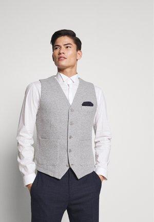 Suit waistcoat - grey melange