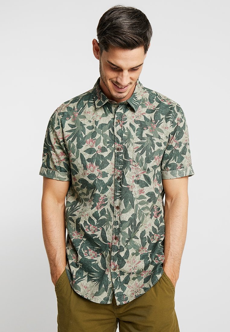 s.Oliver - SLIM FIT 1/2 ARM - Shirt - olive disguise