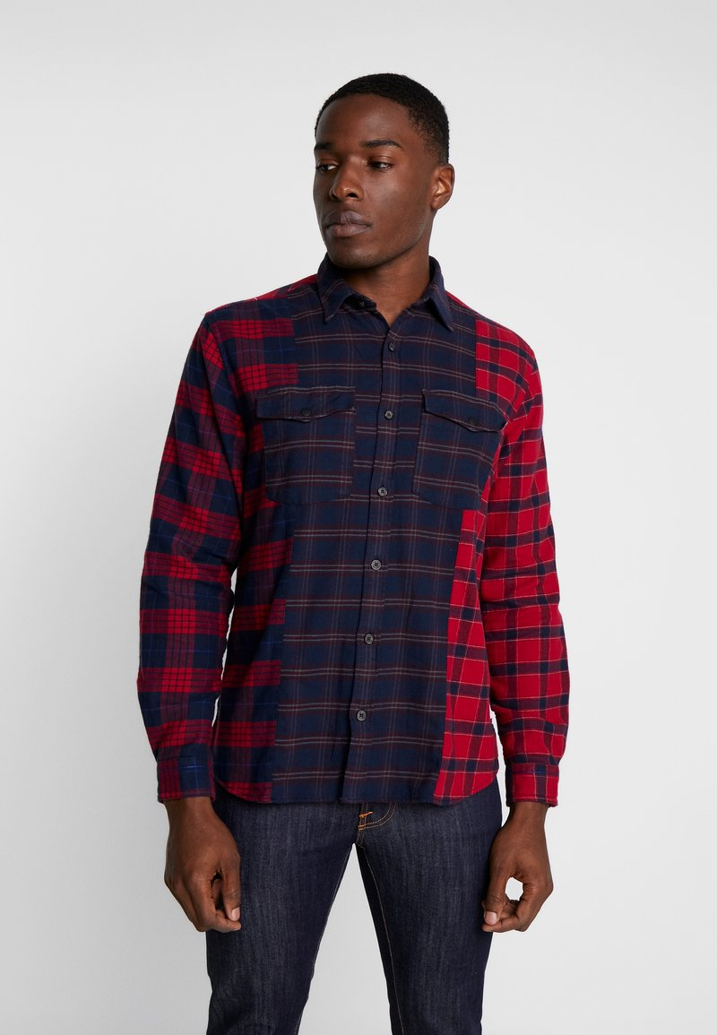 s.Oliver - REGULAR FIT  - Skjorta - red/blue
