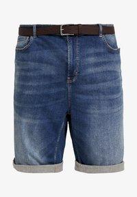 s.Oliver - Jeans Short / cowboy shorts - blue denim stretch - 3