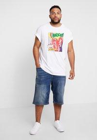 s.Oliver - Jeans Short / cowboy shorts - blue denim stretch - 1