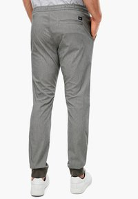 s.Oliver - Tracksuit bottoms - dark grey check - 2