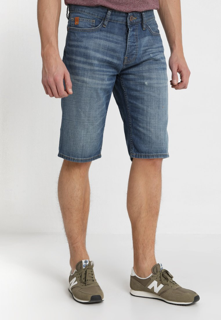 s.Oliver - Denim shorts - blue denim non stretch