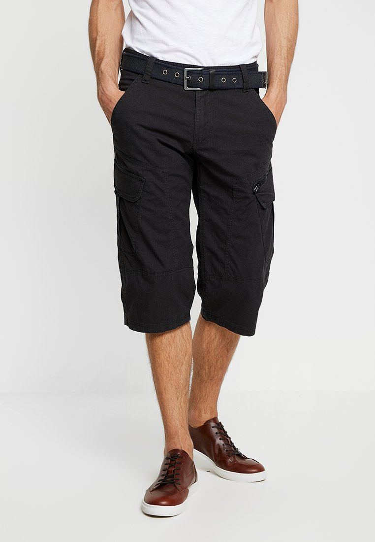 s.Oliver - LOOSE - Shorts - charcoal