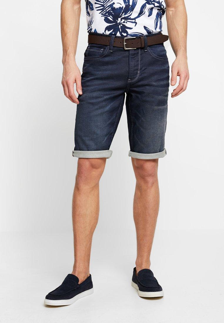 s.Oliver - Denim shorts - blue denim stretch