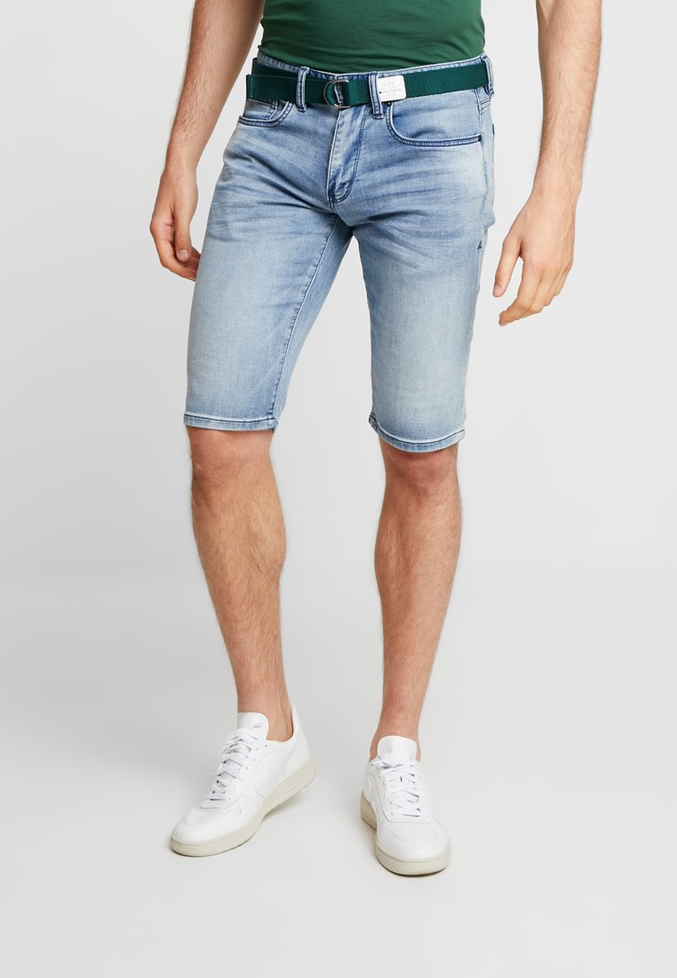 s.Oliver - Jeans Short / cowboy shorts - blue denim stretch