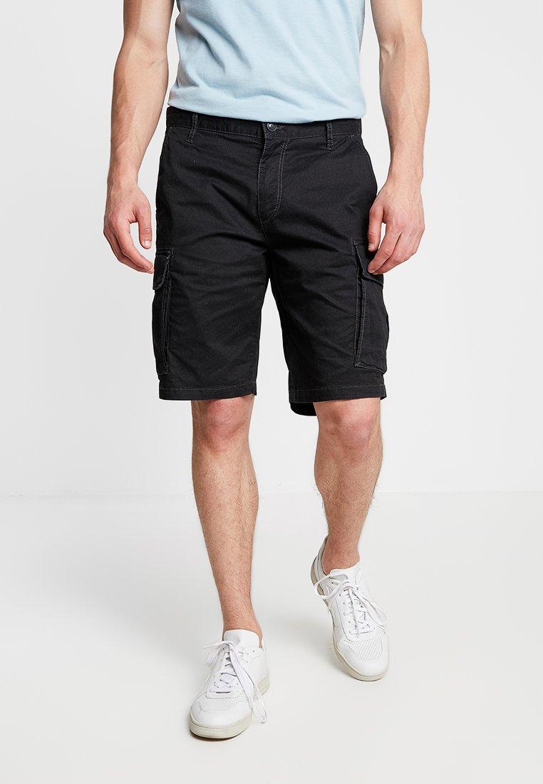 s.Oliver - LOOSE - Shorts - grey/black