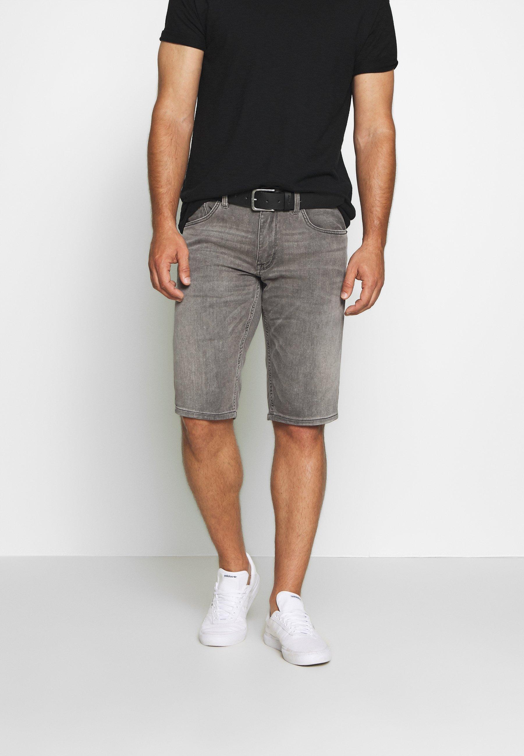 s.Oliver BERMUDA - Szorty jeansowe - grey denim
