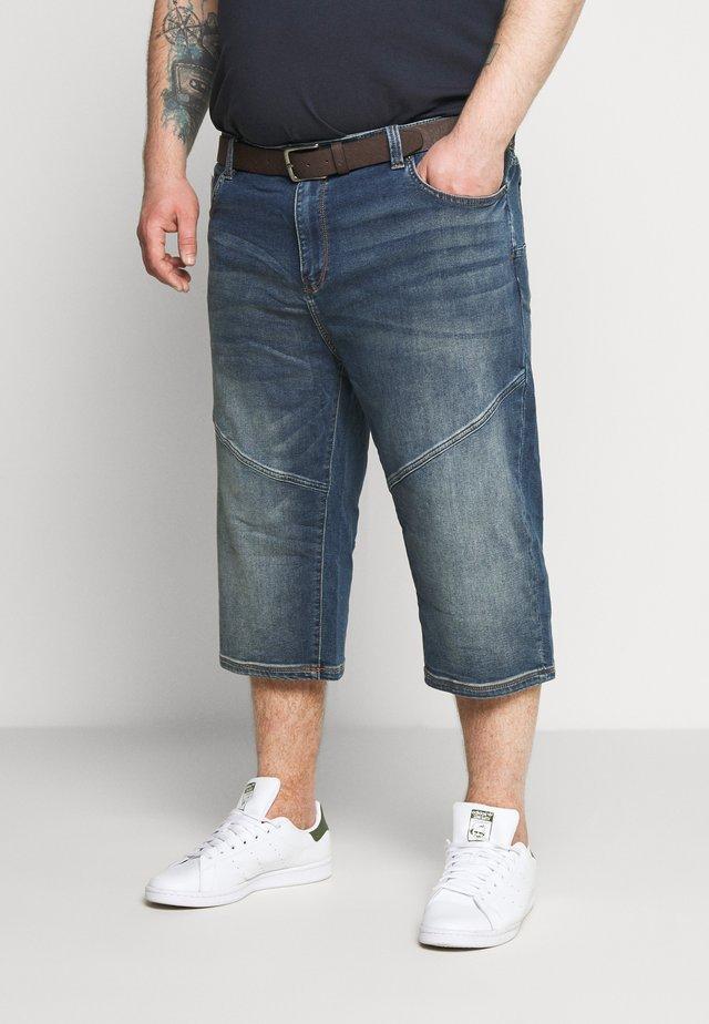 BERMUDA - Denim shorts - blue denim