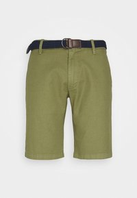 s.Oliver - BERMUDA WITH BELT - Shorts - army green - 4