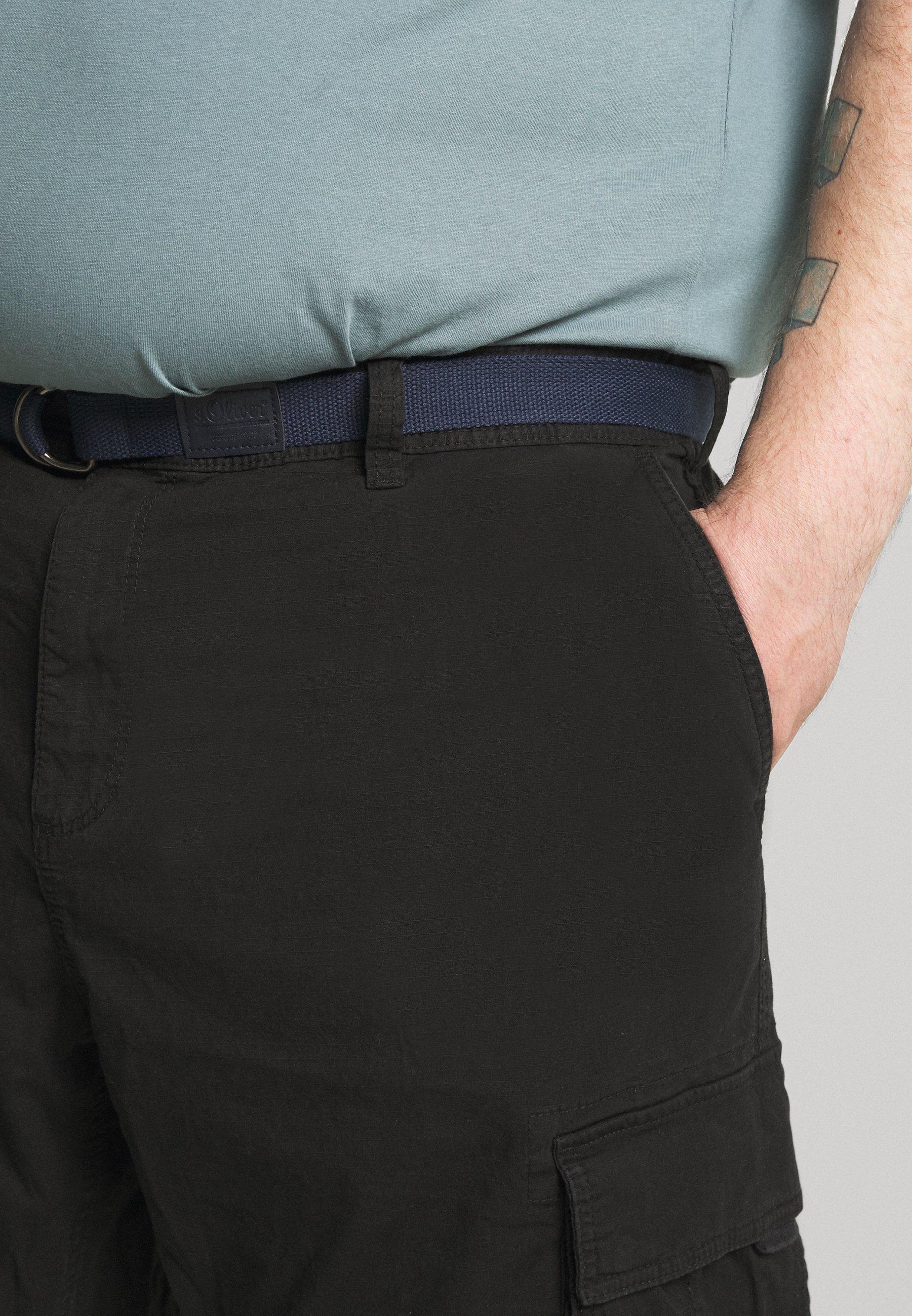 S.oliver Bermuda Belt 3/4 Big - Shorts Black Cnix4