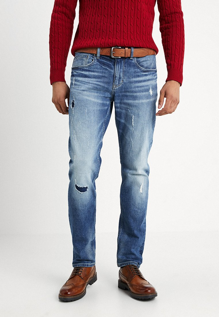 s.Oliver - REGULAR - Straight leg jeans - blue denim stretch