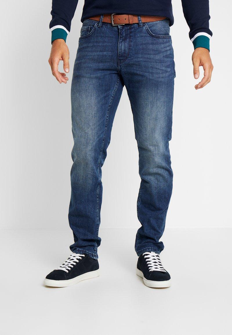 s.Oliver - Straight leg jeans - blue denim stretch