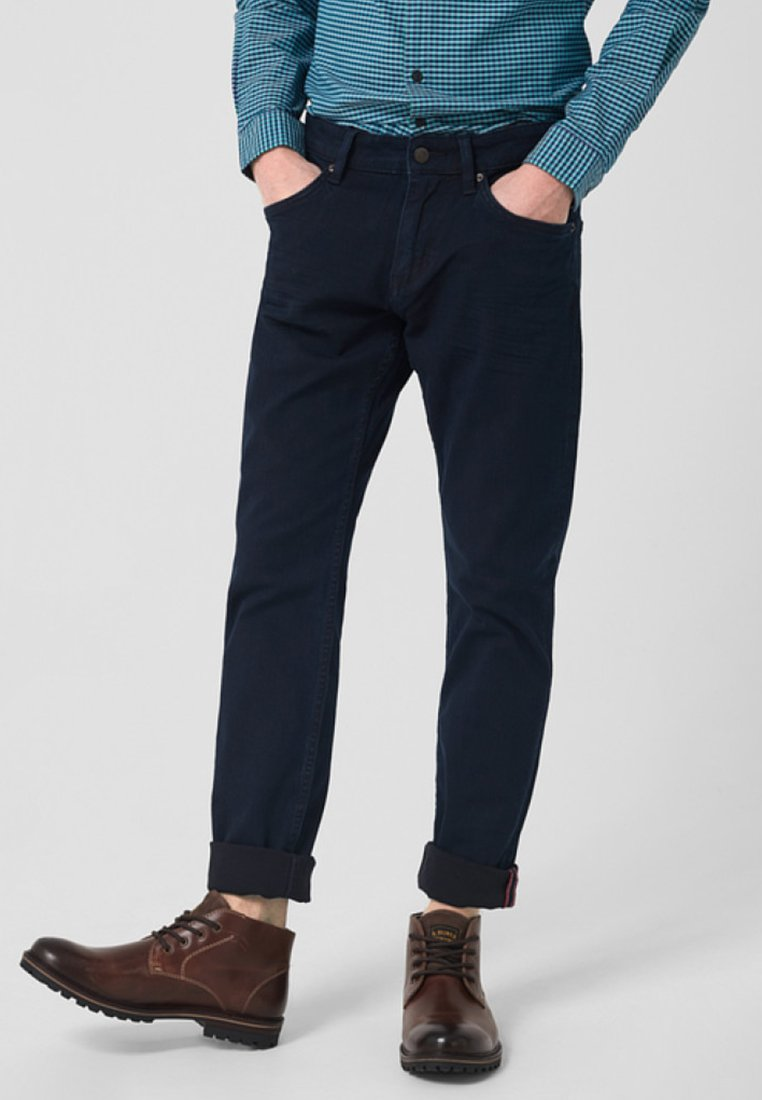 s.Oliver - Straight leg jeans - blue denim stretch