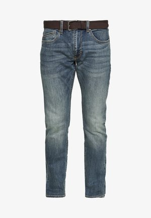 HOSE LANG - Straight leg jeans - blue denim