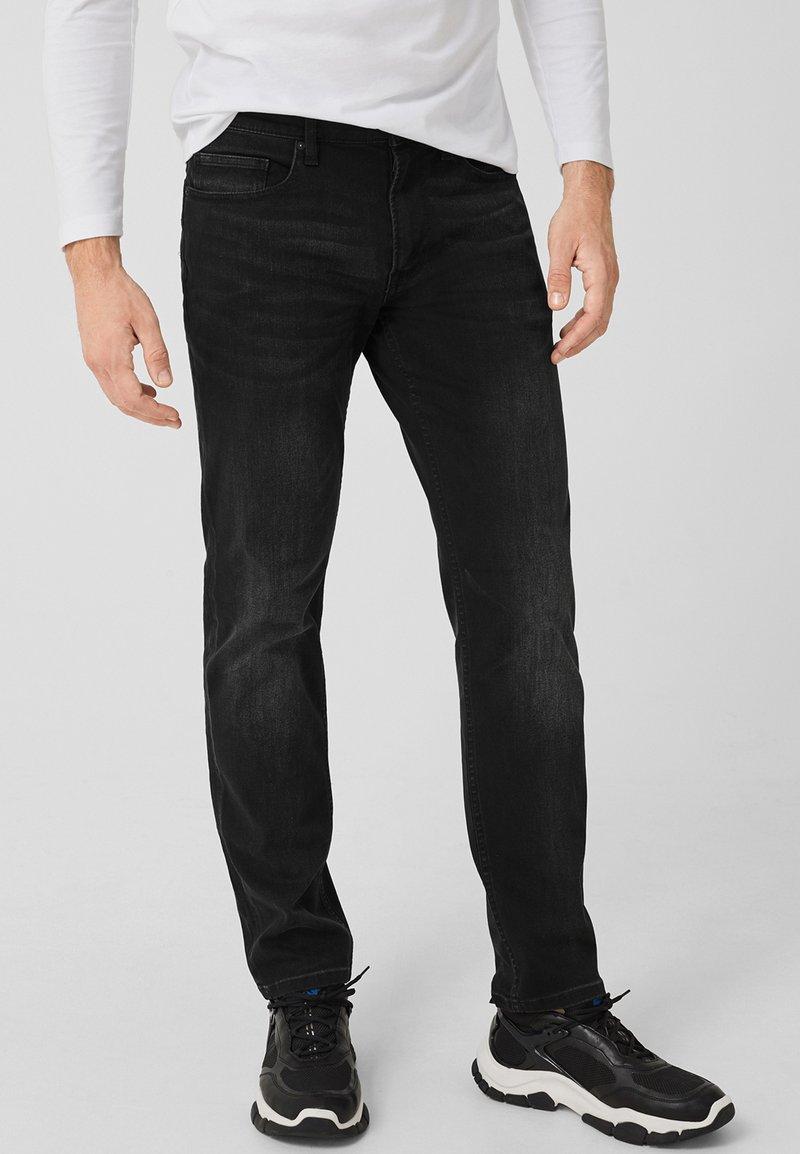 s.Oliver - TUBX  - Straight leg jeans - black