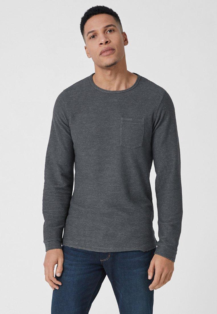 s.Oliver - MIT STRUKTUR - Langarmshirt - dark grey