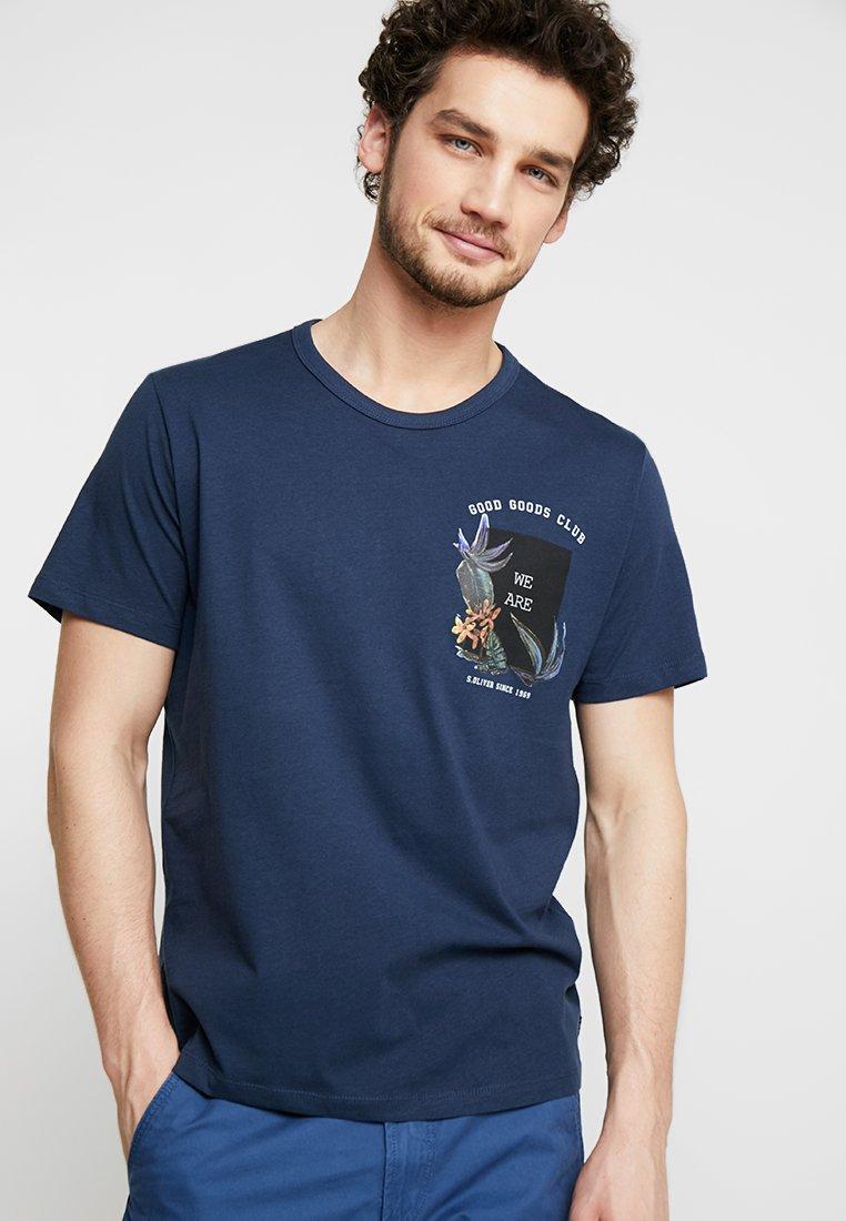 s.Oliver - KURZARM - Print T-shirt - midnight
