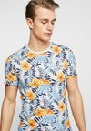 s.Oliver - KURZARM - Print T-shirt - harbour grey