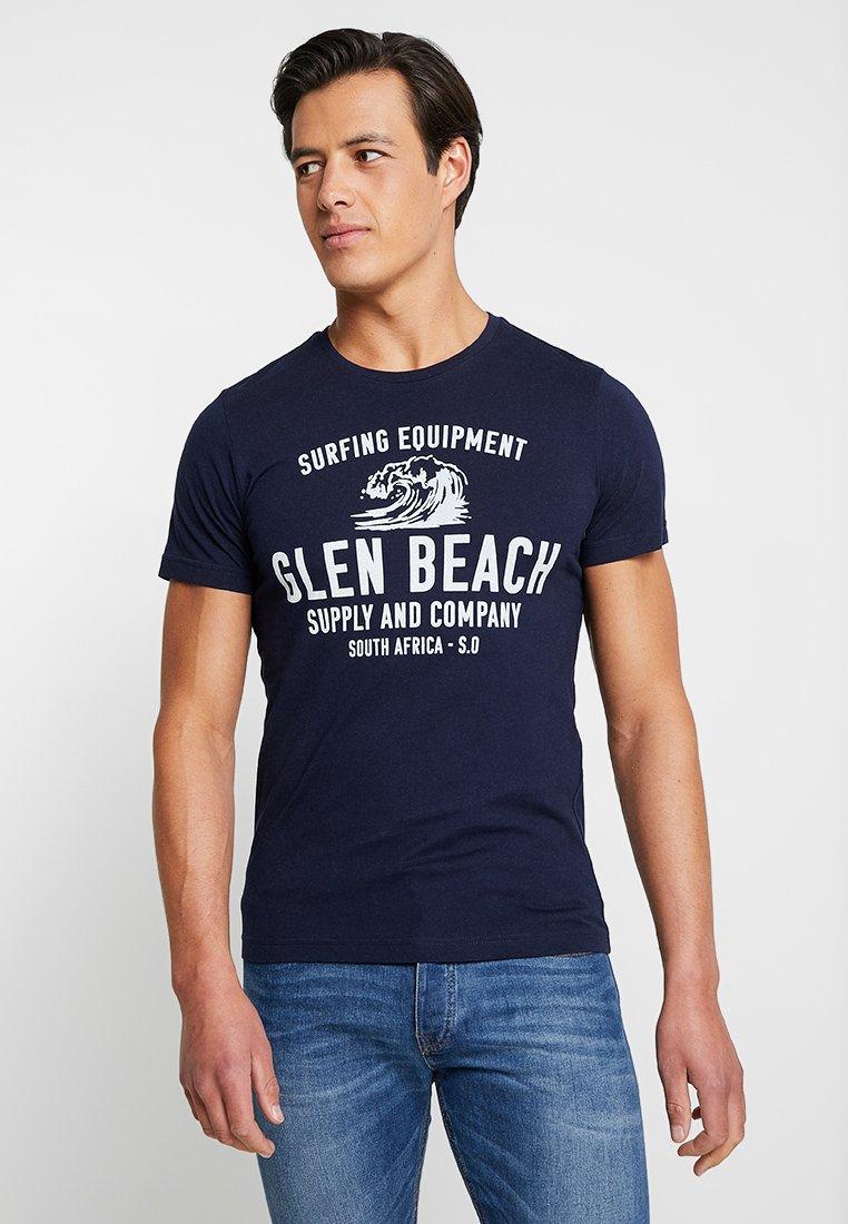 s.Oliver - KURZARM - T-Shirt print - classic navy