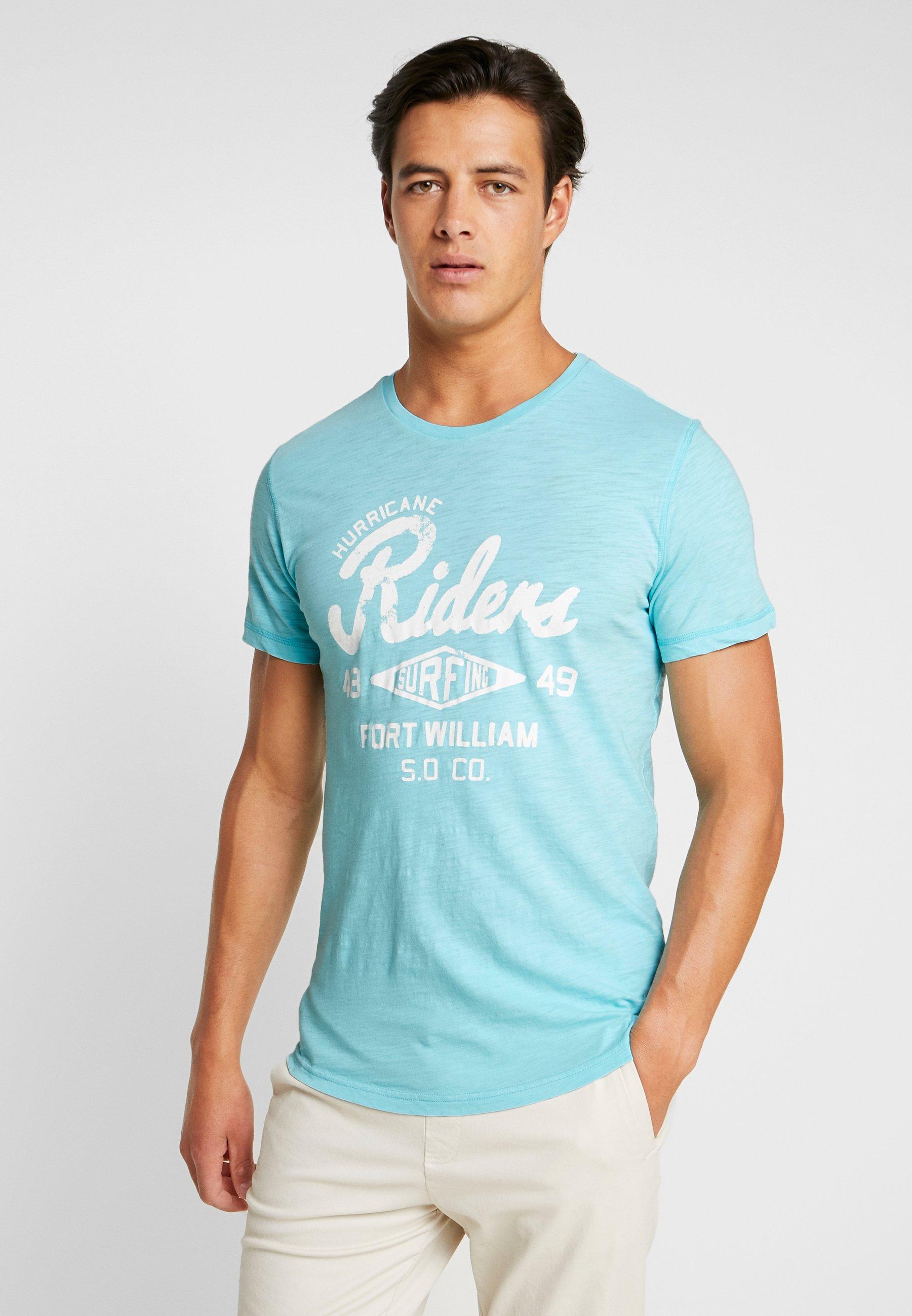 Light shirt oliver KurzarmT Imprimé S Cyan m0Nwv8nO