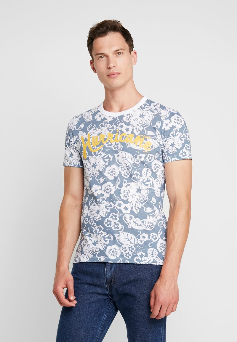 s.Oliver - KURZARM - T-Shirt print - rain cloud