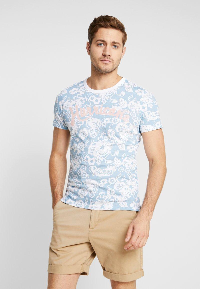s.Oliver - KURZARM - T-Shirt print - blue mist