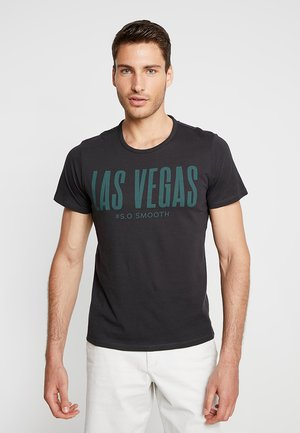 T-shirt con stampa - charcoal