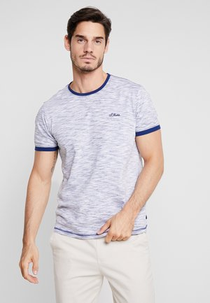 KURZARM - T-shirt z nadrukiem - tile blue