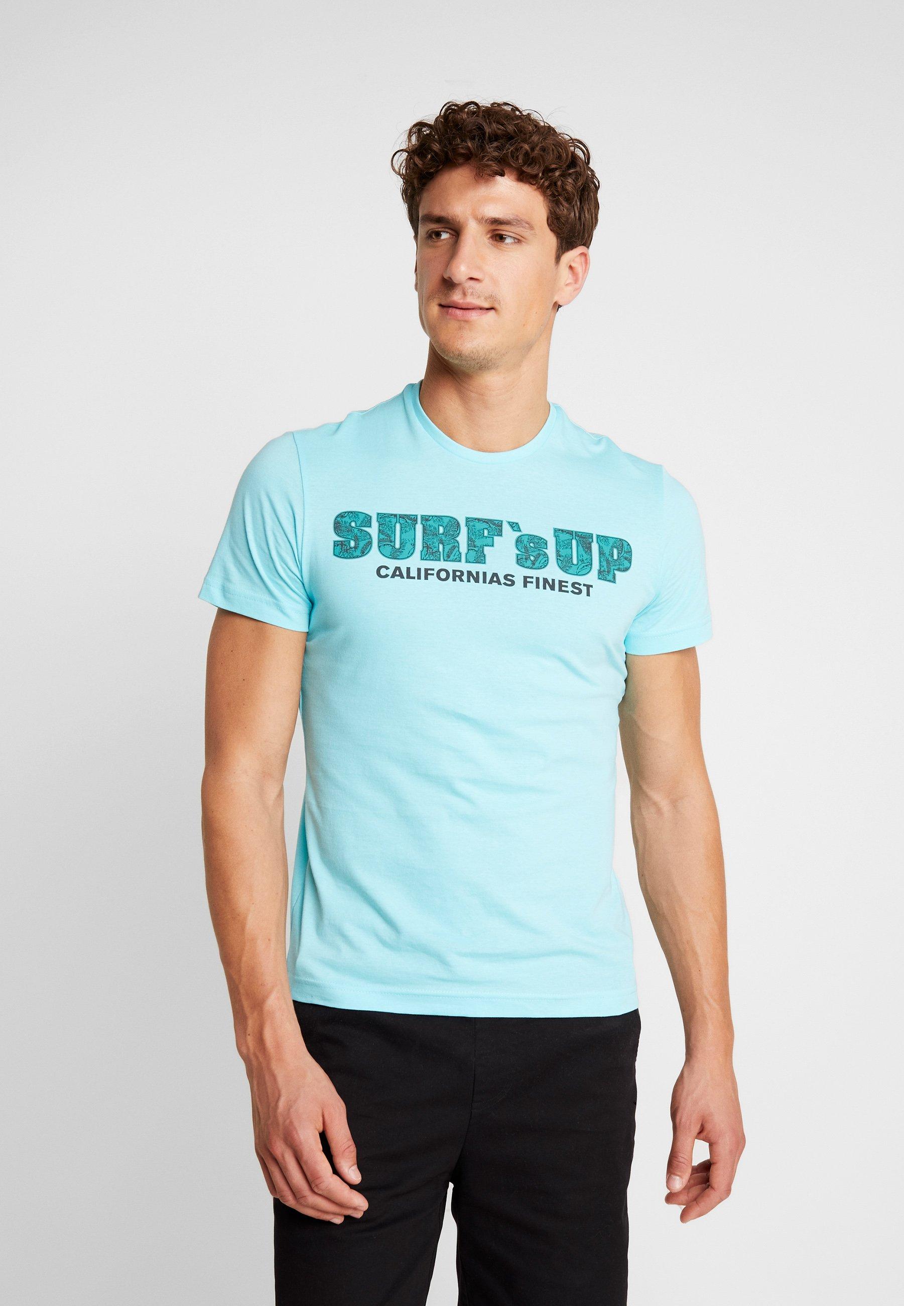 Imprimé S oliver Turquoise shirt KurzarmT w0mNv8n