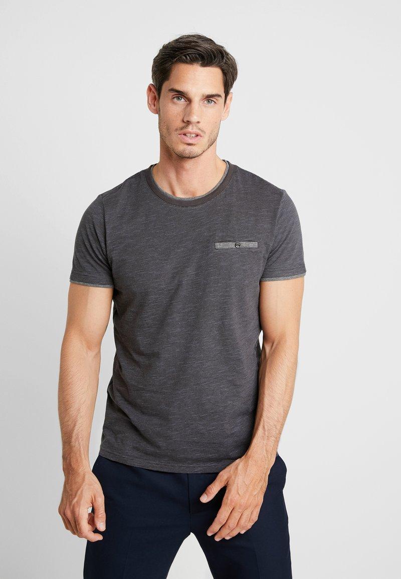 s.Oliver - T-SHIRT KURZARM - T-Shirt print - anthracite