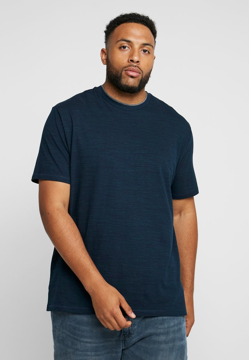 s.Oliver - KURZARM - T-shirt con stampa - fresh ink melange