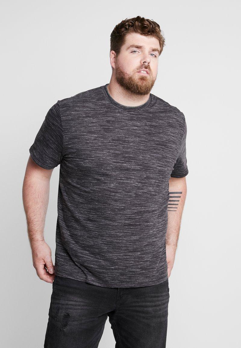 s.Oliver - KURZARM - T-shirt con stampa - charcoal melange