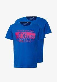 s.Oliver - KURZARM 2 PACK - Camiseta estampada - royal blue - 4