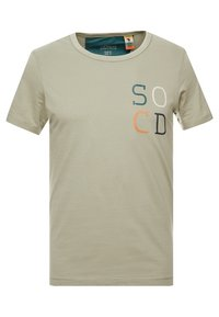 s.Oliver - KURZARM - T-shirt con stampa - stone green - 0